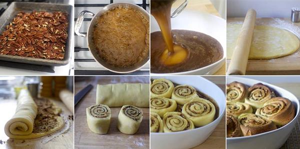 Карамельные булочки с грецкими орехами