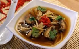 Суп картофельный со свежими грибами