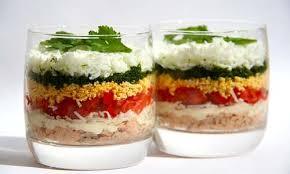 Порционный салат «Мимоза» с лососем
