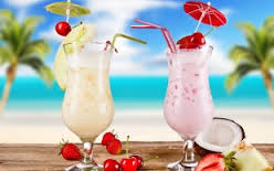 Напиток с кокосом и авокадо