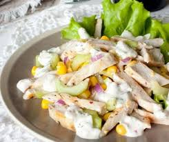 Салат из курицы с бананом