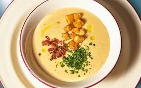 Суп-пюре гороховый с беконом