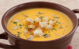 Крем-суп из тыквы с имбирем