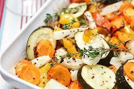 Запеченные в духовке овощи – рецепт с горчицей