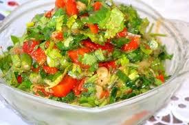 Салат с баклажанами и перцем