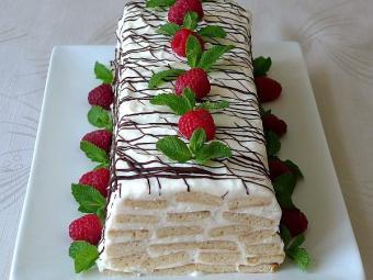 Торт «Медовое полено»