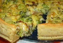 Пирог с сыром и луком пореем