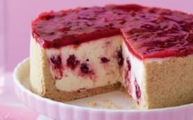 Торт-суфле — рецепт с малиной