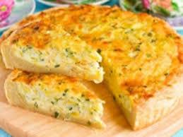 Открытый сырный пирог
