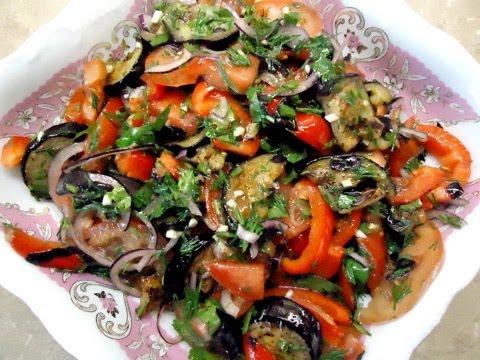 Салат с баклажанами острый быстро и вкусно