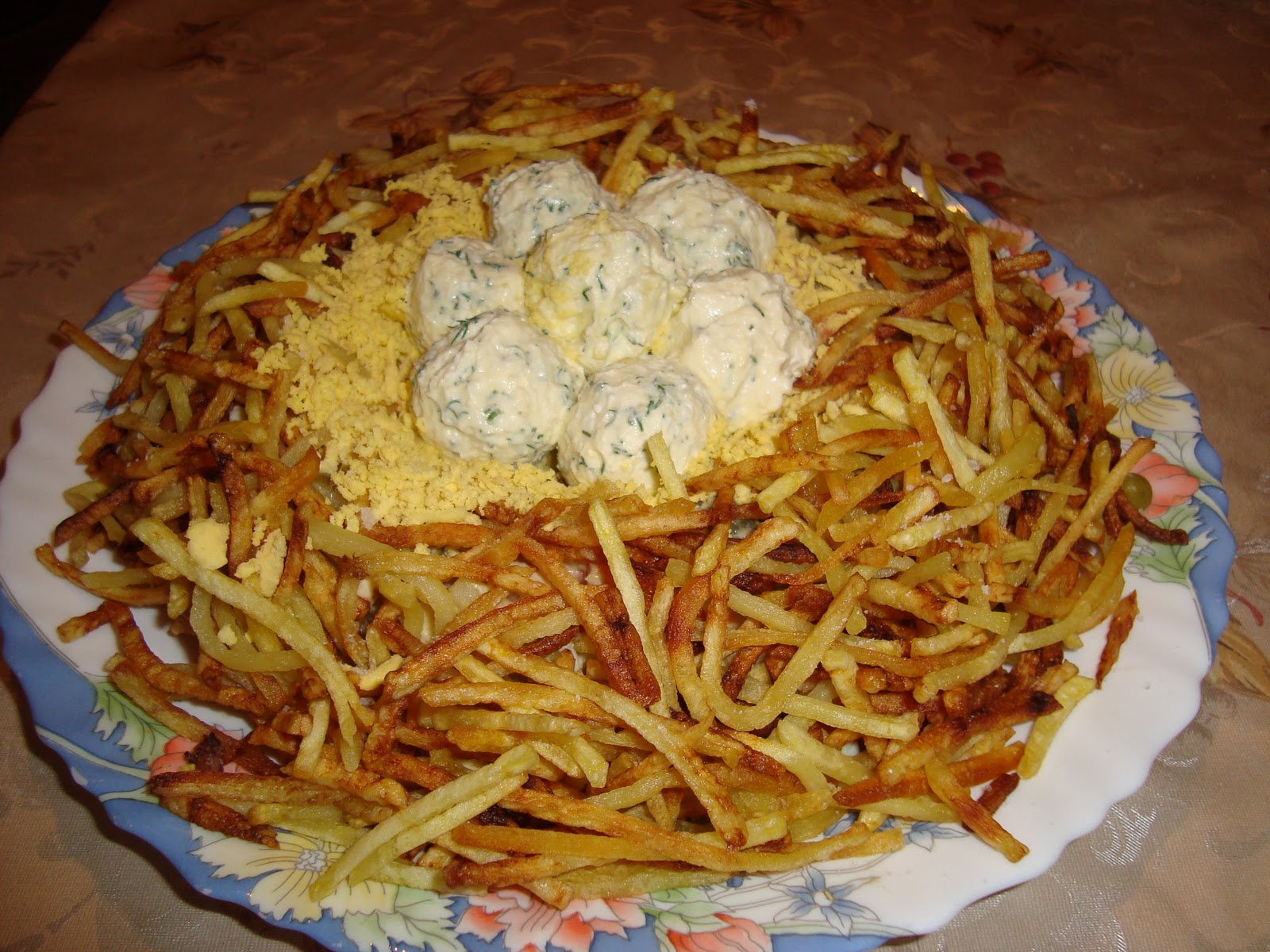 Фото рецепты салата гнездо глухаря с