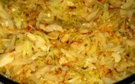 Жареная капуста на сковороде