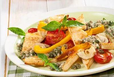 Тосканский салат с гренками