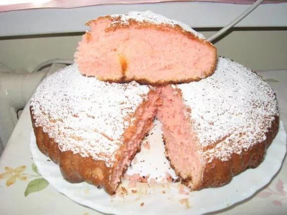 Пирог-губка на киселе