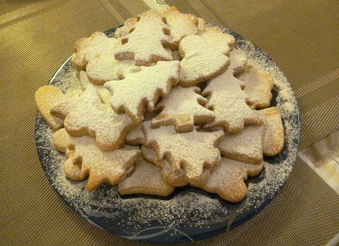 Пасхальное песочное печенье