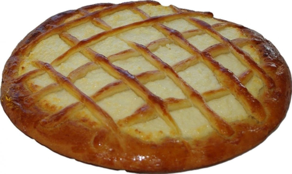 Открытый пирог из дрожжевого теста с творогом рецепт