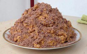 Торт «Муравейник» из печенья за 10 минут