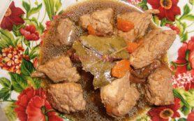 Жареное мясо кусочками