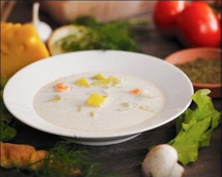 Сливочный суп с семгой в мультиварке рецепт