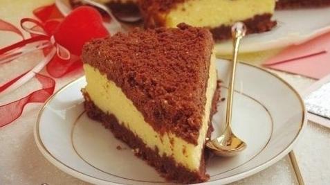 Творожный «торфяной» пирог.