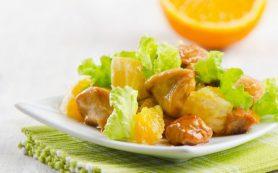 Тайский салат с апельсинами