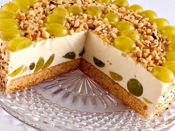 творожно-фруктовый торт без выпечки рецепт с фото