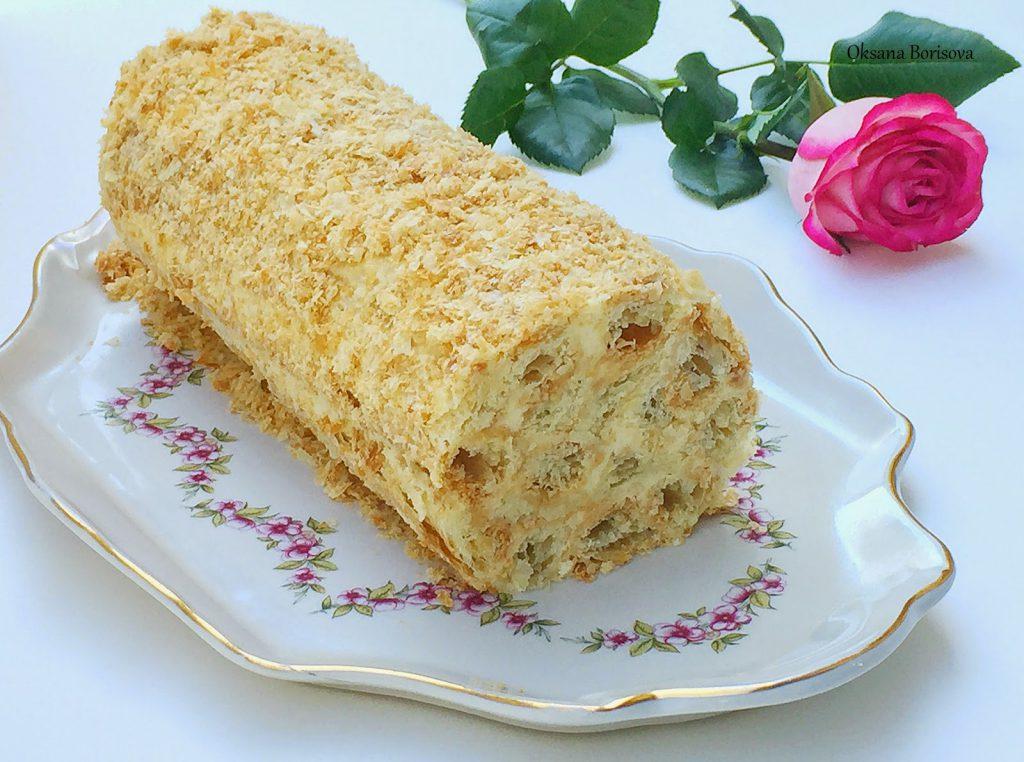 Торт «Слоеное полено»