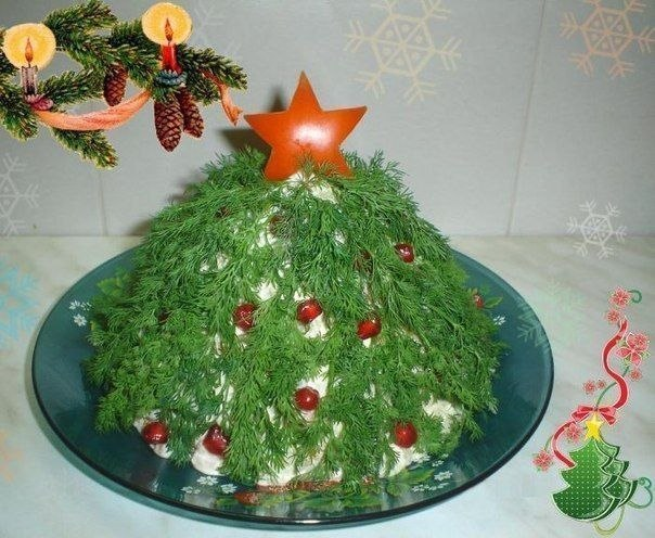 Салат «Новогодняя ёлочка»