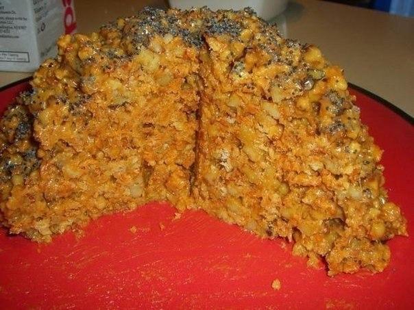Торт «Муравейник» из печенья