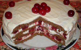 Торт «Зимняя вишня»