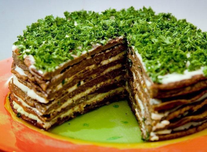 Самый вкусный печёночный тортик