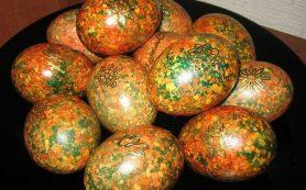 Красим яйца оригинальным способом к пасхе