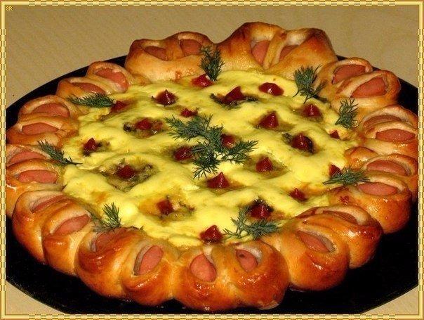 Праздничная нарядная пицца