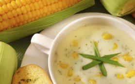 Суп сытный со сладкой кукурузой и крабовым мясом