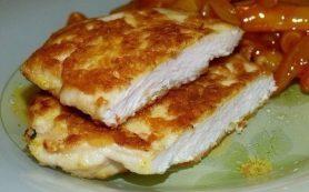 Очень нежные куриные отбивные с хрустящей сырной корочкой
