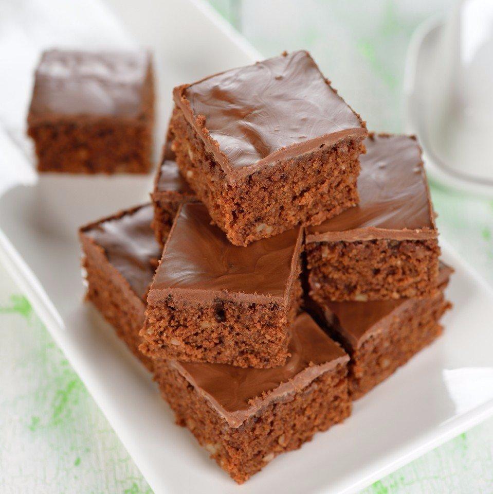 Простые шоколадные пирожные