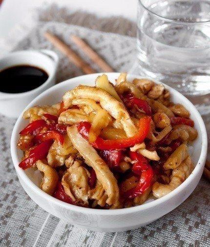 Курица стир-фрай с кисло-сладком соусе