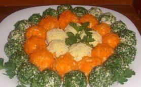 Оригинальный салат в шариках