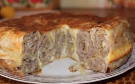 Пирог «Лаваш в заливке»