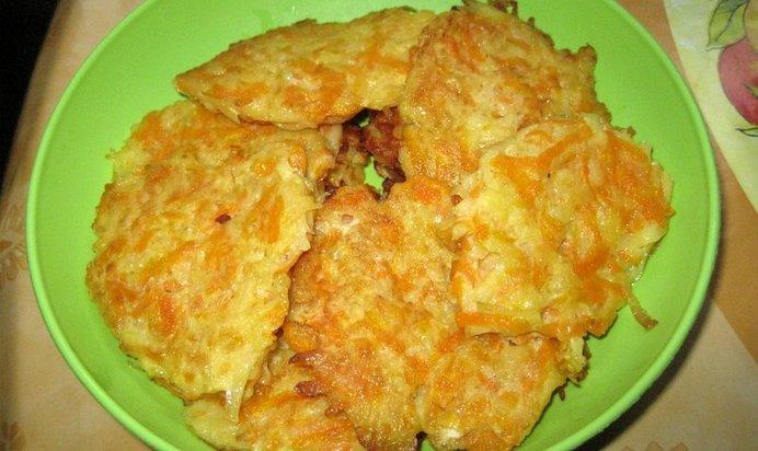 Картофельнные драники с тыквой