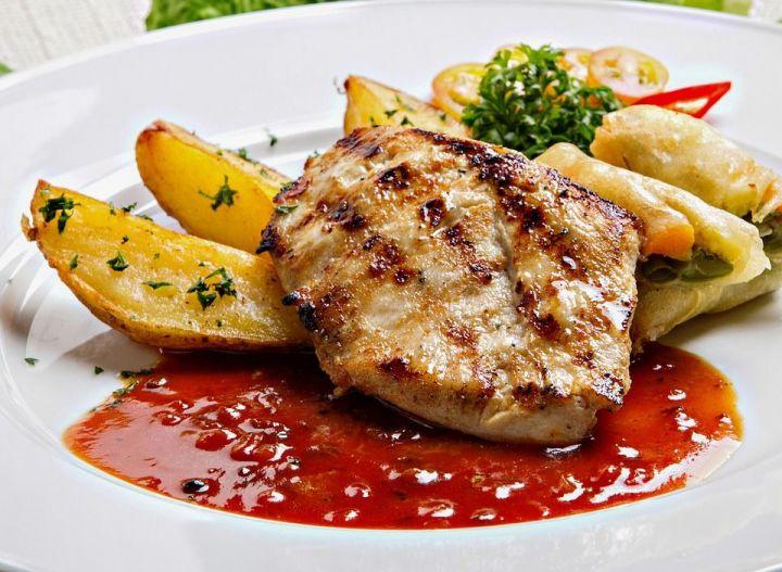 Рецепт картошки с куриным мясом в рукаве