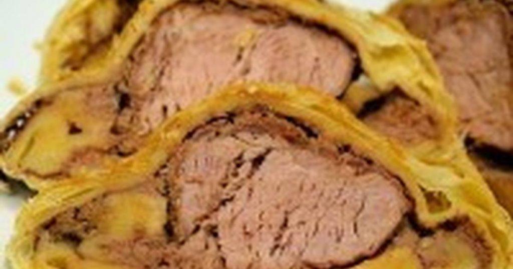 Ростбиф из говядины в слоёном тесте
