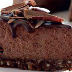 Шоколадно-творожный чизкейк