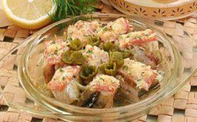 Скандинавская закуска из рыбы и сыра