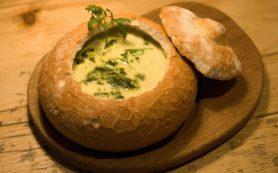 Крем-суп в хлебном горшочке