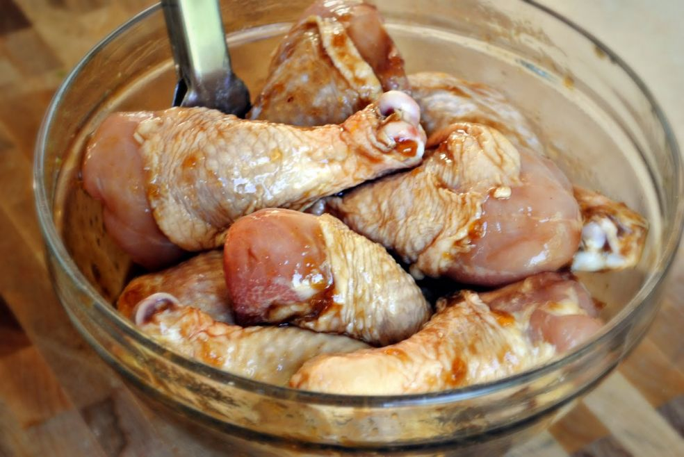 Жареные голени курицы с бальзамическим уксусом
