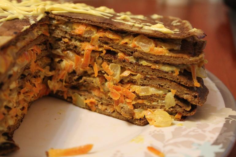 Печёночный торт «Магги»