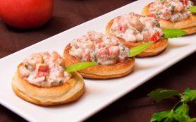 Тарталетки с кремом из морепродуктов