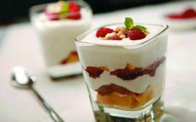 Вкусный нежный десерт Трайфл