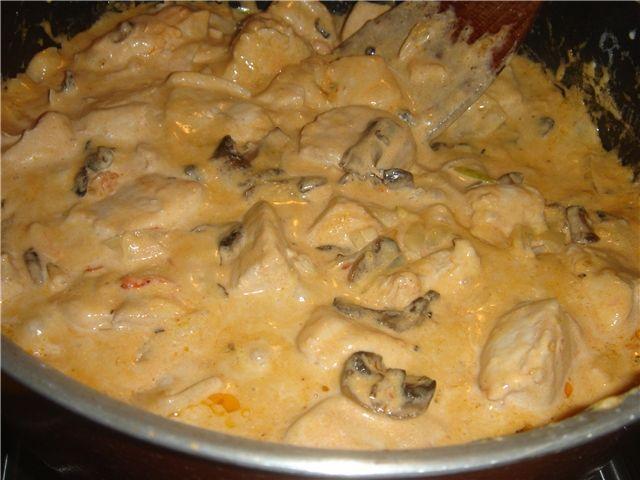 Рецепт куриного филе со сливками